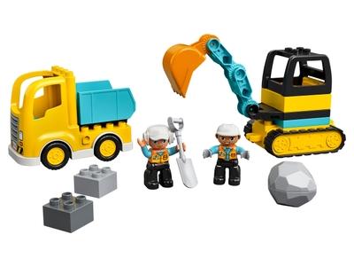 LEGO Truck & Graafmachine met rupsbanden (10931)