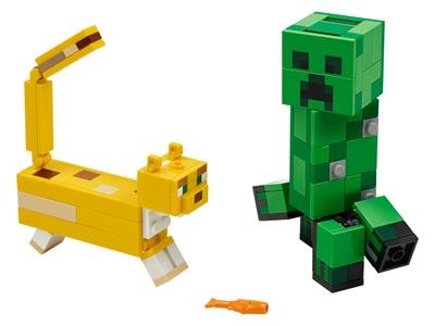 LEGO BigFig Creeper™ en Ocelot (21156)