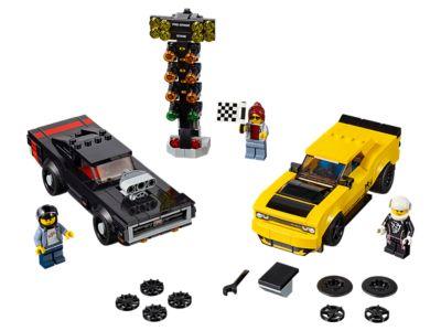 LEGO 2018 Dodge Challenger SRT Demon and 1970 Dodge Charger R/T (75893)