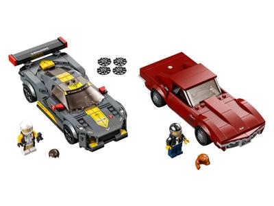 LEGO Chevrolet Corvette C8.R Race Car and 1968 Chevrolet Corvette (76903)