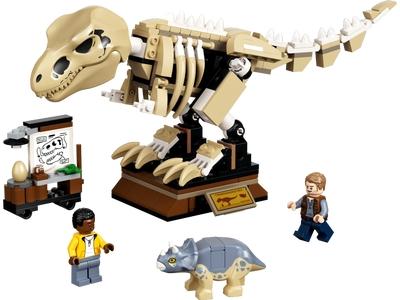 LEGO T. Rex-Skelett in der Fossilienausstellung (76940)