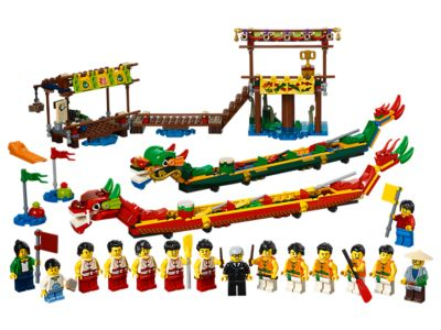 Dragon Boat Race Chinese Exclusive New Brick Chinese Festivals Building Blocks