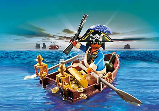 PLAYMOBIL Pirate with Rowboat (4942)