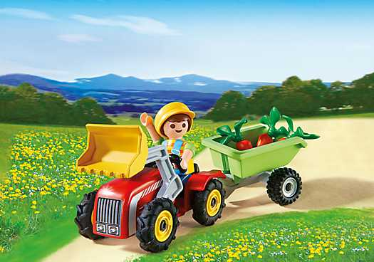 PLAYMOBIL Boy with Children's Tractor (4943)
