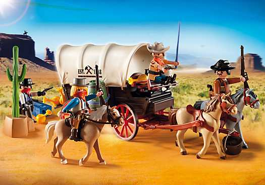 PLAYMOBIL Covered Wagon with Raiders (5248)