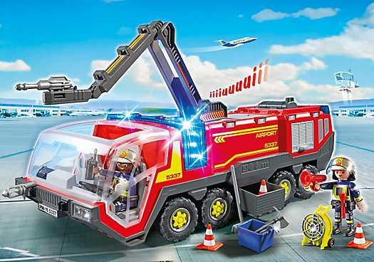 PLAYMOBIL Luchthavenbrandweer met licht en geluid (5337)