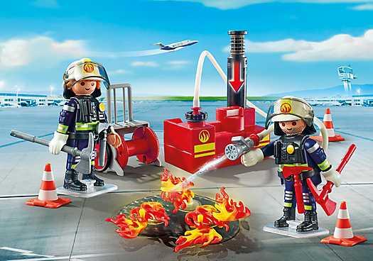PLAYMOBIL Brandweermannen met blusmateriaal (5397)