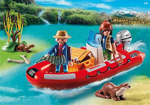 PLAYMOBIL Rubberboot met stropers (5559)
