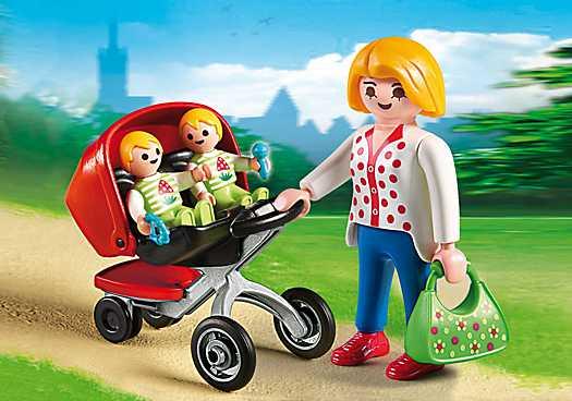 PLAYMOBIL Tweeling kinderwagen (5573)