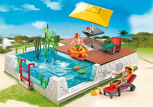 PLAYMOBIL Swimming Pool with Terrace (5575)