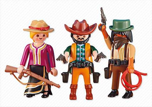 PLAYMOBIL 2 Cowboys mit Cowgirl (6278)