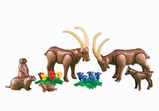 PLAYMOBIL Steenbokken en marmotten (6318)