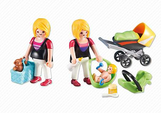 PLAYMOBIL Pregnant Woman and Mother with Baby (6447)