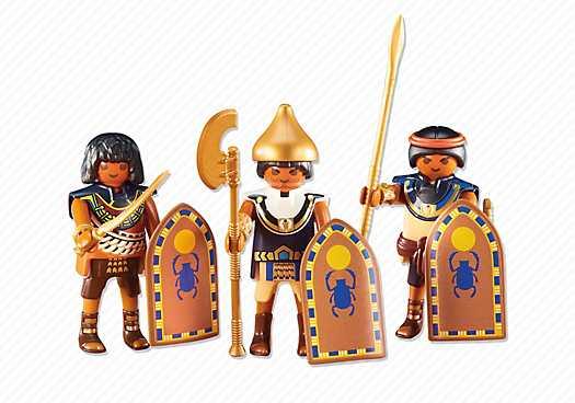 PLAYMOBIL 3 Egyptische soldaten (6488)