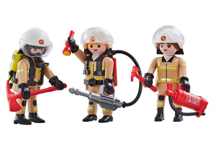 PLAYMOBIL 3 brandweerlieden ploeg A (6584)