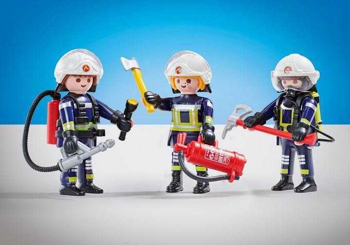 PLAYMOBIL 3 Brandweerlieden ploeg B (6586)