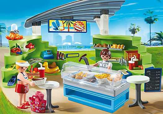 Espace Boutique et Fast-Food Playmobil 6672