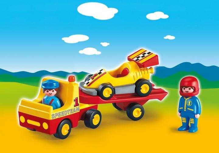 PLAYMOBIL Raceauto met transportwagen (6761)
