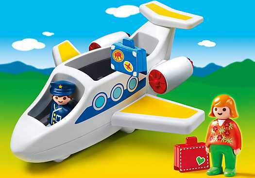 PLAYMOBIL 1.2.3 Passagiersvliegtuig (6780)