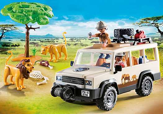 PLAYMOBIL Safari 4x4 met lier (6798)