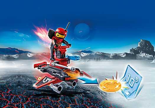 PLAYMOBIL Firebot met Disc-Shooter (6835)