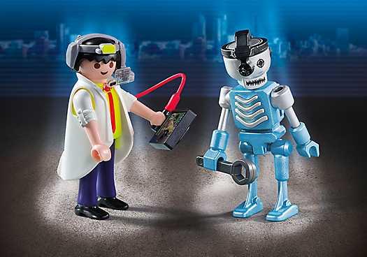 PLAYMOBIL Duopack uitvinder en robot (6844)