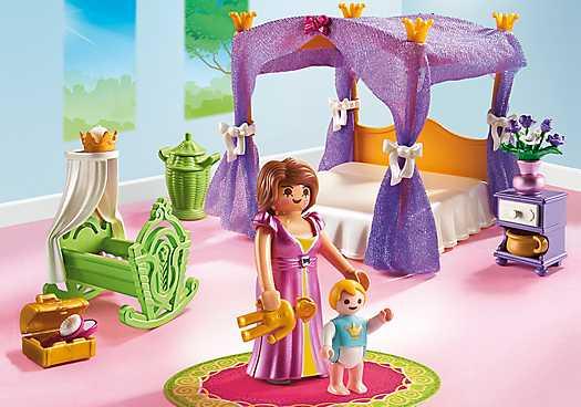 PLAYMOBIL Koninklijke slaapkamer met hemelbed (6851)