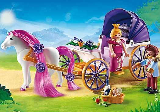 PLAYMOBIL Koninklijke koets met paard om te kammen (6856)