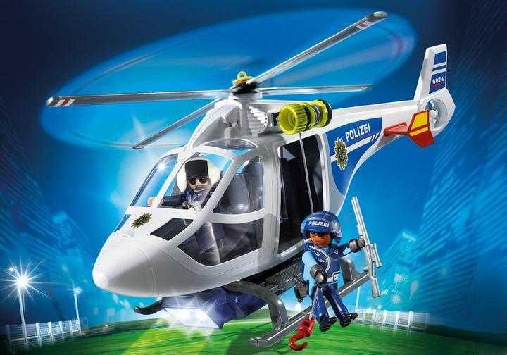 PLAYMOBIL Politiehelicopter met LED-zoeklicht (6874)