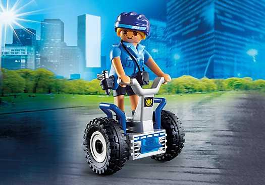 PLAYMOBIL Politieagente met balans racer (6877)