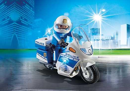 PLAYMOBIL Politiemotor met LED-licht (6923)
