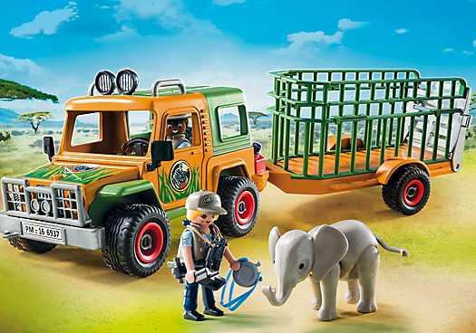 PLAYMOBIL Ranger terreinwagen met olifant (6937)