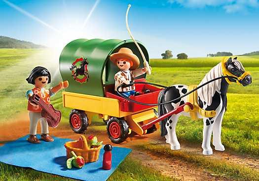 PLAYMOBIL Picknick met ponywagen (6948)