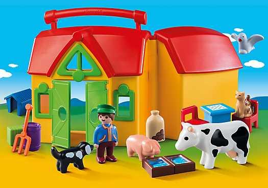 PLAYMOBIL Meeneemboerderij met dieren (6962)