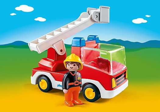 PLAYMOBIL Brandweerwagen met ladder (6967)