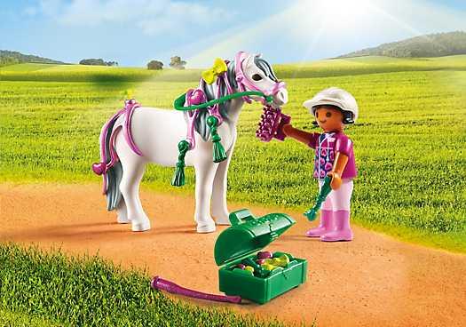 PLAYMOBIL Pony om te versieren Hart (6969)