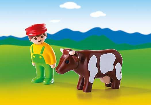 PLAYMOBIL Boer met koe (6972)