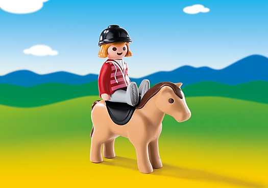 PLAYMOBIL Ruiter met paard (6973)