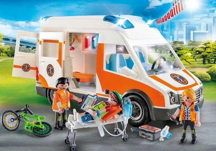 PLAYMOBIL Rettungswagen mit Licht und Sound (70049)