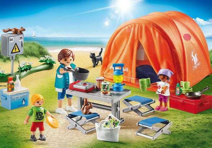 PLAYMOBIL Kampeerders met tent (70089)