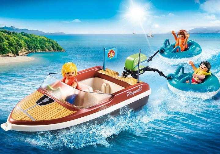 PLAYMOBIL Motorboot met funtubes (70091)