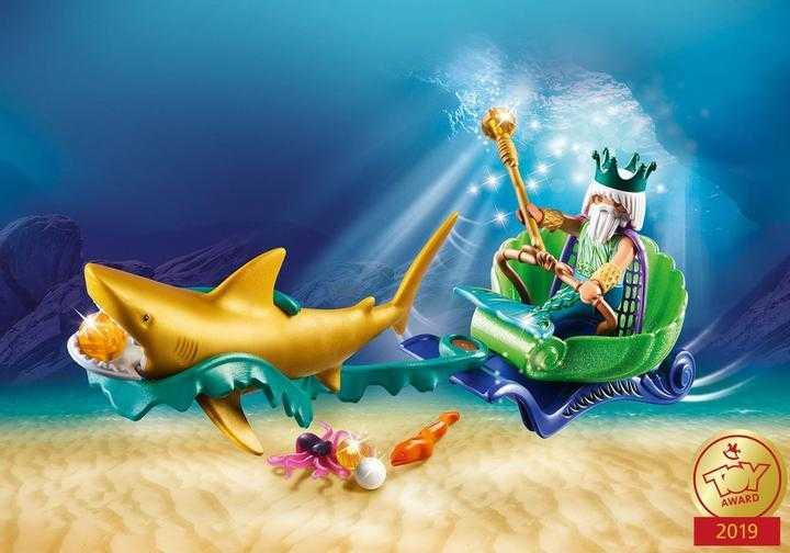 PLAYMOBIL Koning der zeeën met haaienkoets (70097)