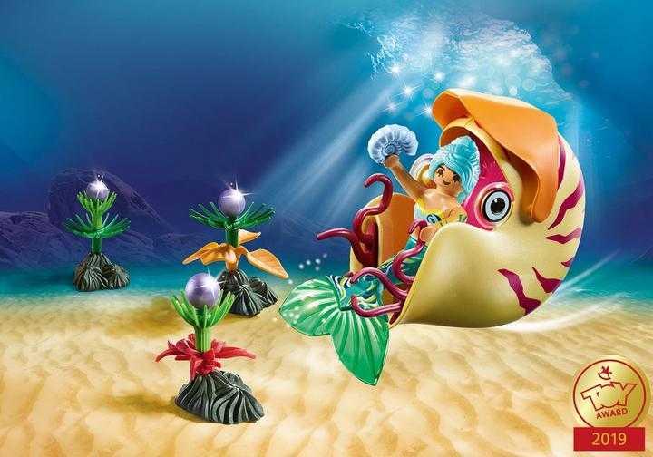 PLAYMOBIL Mermaid with Sea Snail Gondola (70098)