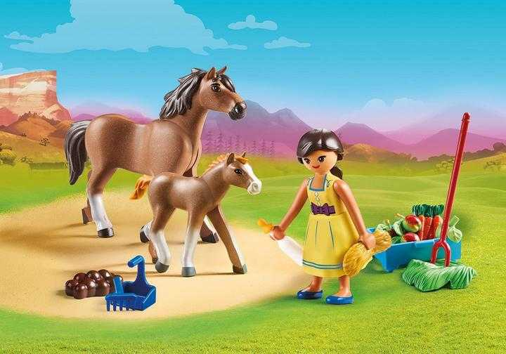 PLAYMOBIL Pru met paard en veulen (70122)