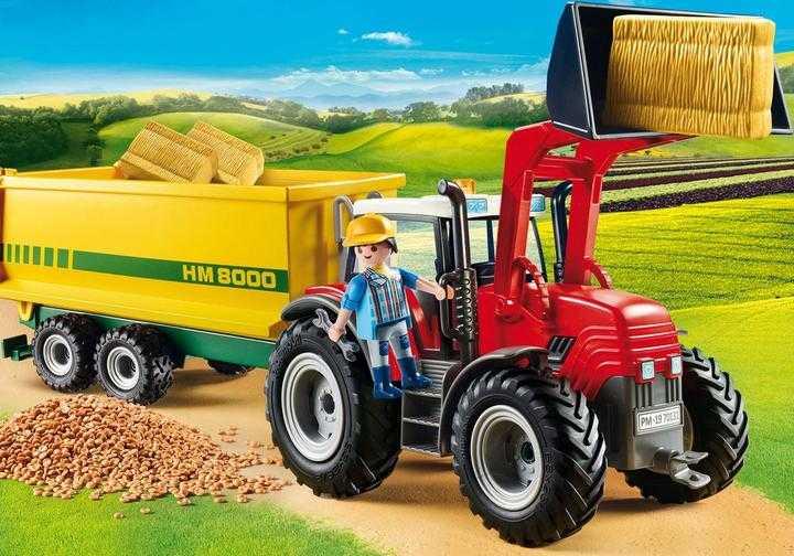 PLAYMOBIL Grote tractor met aanhangwagen (70131)
