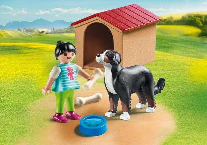 PLAYMOBIL Hofhund mit Hütte (70136)