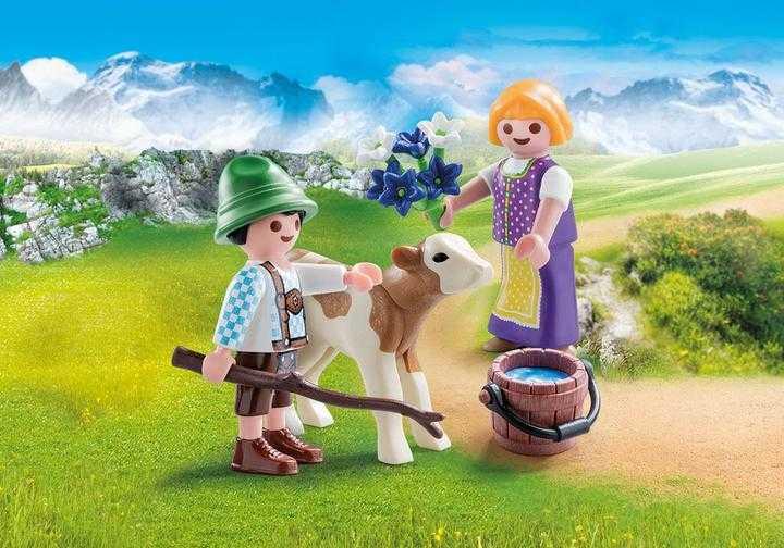 PLAYMOBIL Kinderen met kalf (70155)