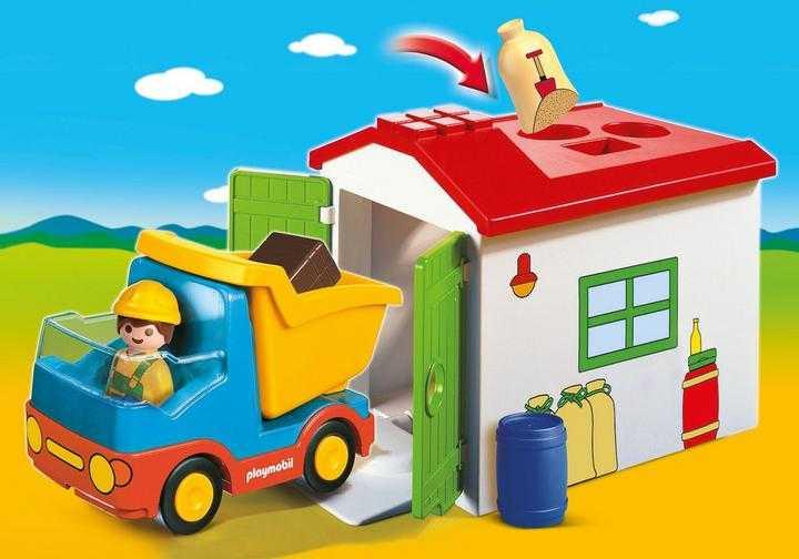 PLAYMOBIL Werkman met sorteer-garage (70184)