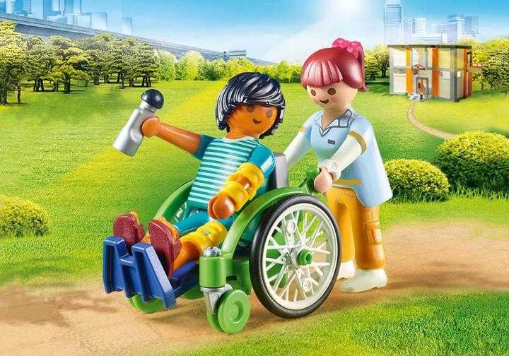 PLAYMOBIL Patient in rolstoel (70193)