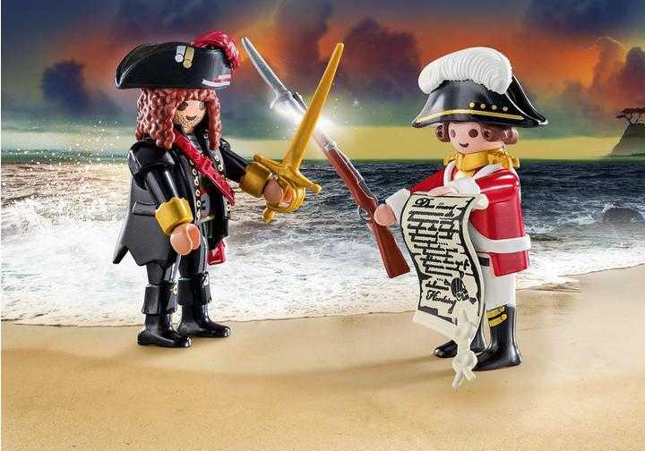 PLAYMOBIL Piratenkapitän und Rotrock (70273)